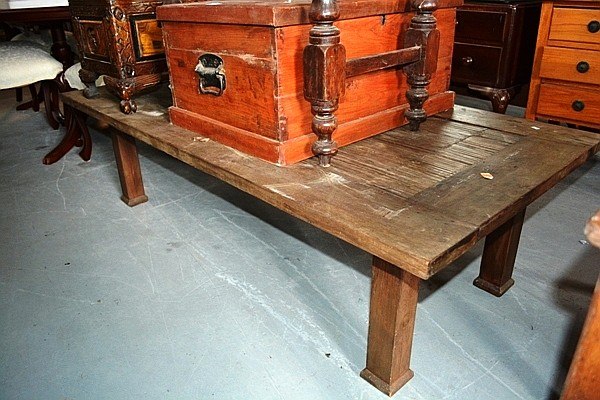 Rustic Indonesian Style Teak Coffee Table