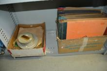 Qty of vintage records and record storage cases