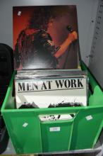 Crate of LP records incl. Jimmy Barnes,
