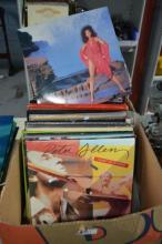 Box of LP records