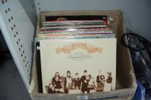 Box of LP records incl. Neil Diamond, Elton John,