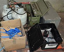 A pallet containing a collection of assorted items