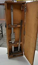 A Mitutoyo Vernier height gauge in a fitted wooden
