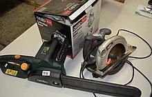 2 x Ozito power tools, a circular saw and a