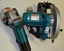 2 x Makita power tools including a circular saw