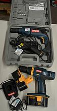 Ryobi electric impact drill in hard case together