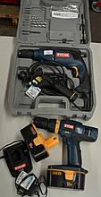 Ryobi electric impact drill in hard case together