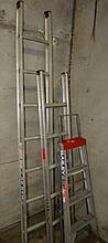 Collection of 3 x assorted ladders including a