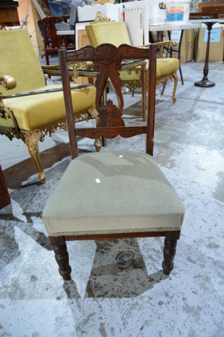 Carved Edwardian Nursing Chair