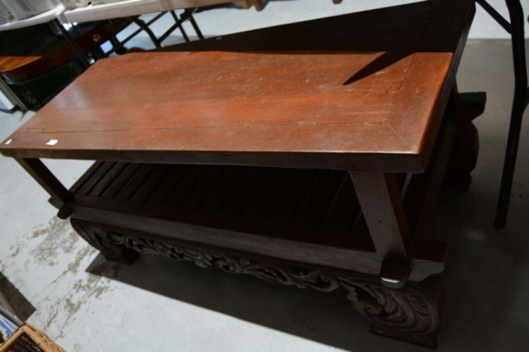 Indonesian Hand Carved Timber Coffee Table