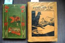 2 books:  'The Janitor's Cat' by Theodore Acland Harper, with drawings by J. Erwin Porter, published by the Cornstalk Publishing Co, Sydney, 1928, complete with dust jacket and 'Australian Adventures' by William H.G. Kingston, with 34 illustrations, publ