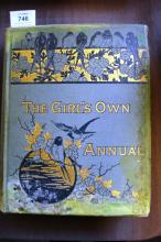 Book: 'The Girl's Own Annual 1881', some fading & staining