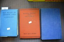 3 books: 'Sky Pilot in Arnhem Land' by K. Langford Smith, 2nd edition 1935, 'Why Singapore Fell' by H. Gordon Bennett 1944, 1st edition, published by Angus & Robertson and 'Matilda Waltzes with the Tommies' by Mary Kent Hughes, Oxford University Press, 2