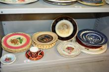 China incl. Royal Crown Derby, Hornsea, display plate with Queen Elizabeth etc