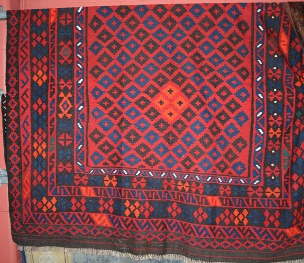 Large Persian Hand Made Kilim Rug, Pure Wool, 304 X 240cm