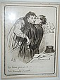 Honore Daumier, 2 x vintage lithographs from the