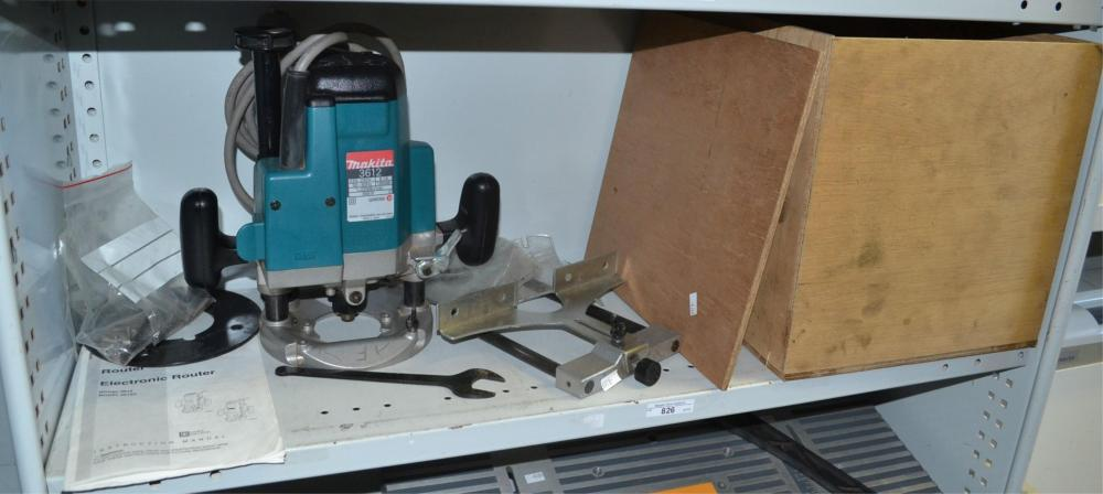 A Makita electric router,
