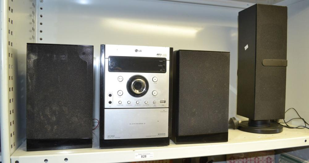 An LG XC62 micro Hi-Fi system with
