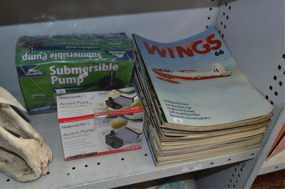 Collection of Wings magazines from the 1970s