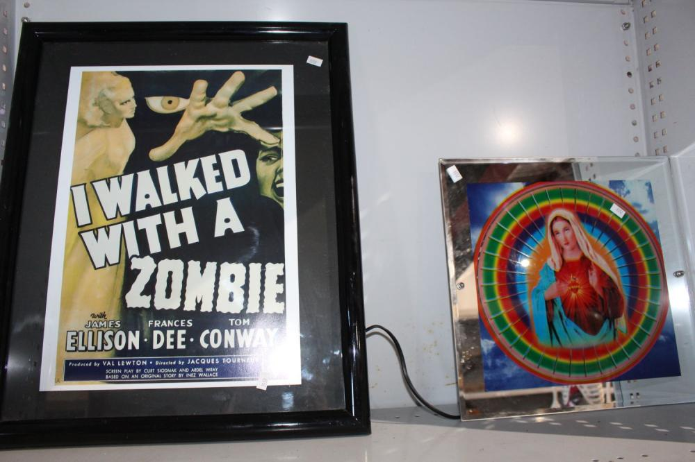 Framed movie poster 'I Walked with a Zombie'