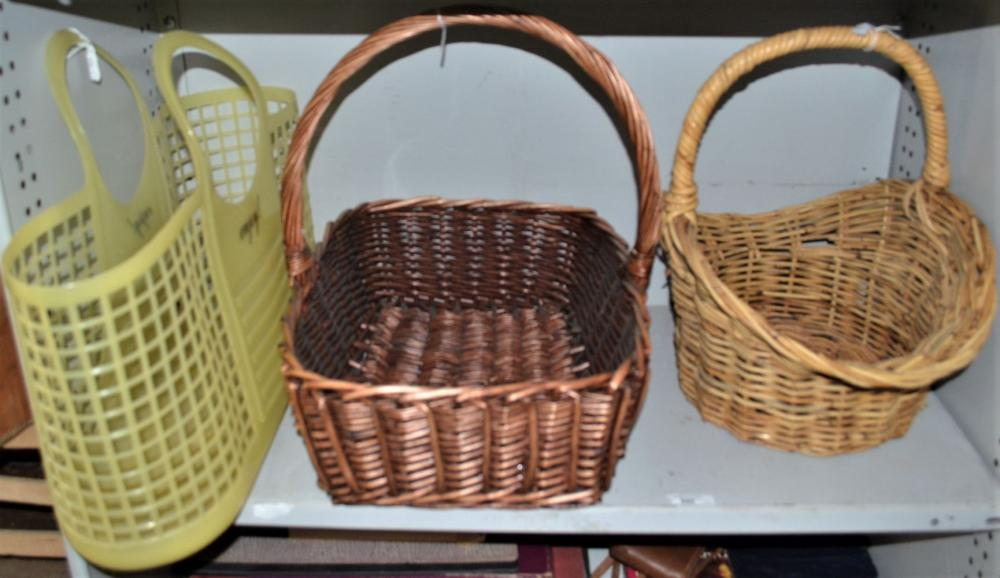 3 assorted baskets to incl.