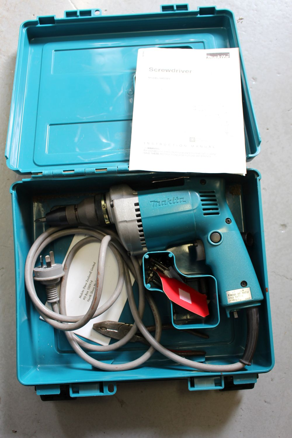 A Makita electric screwdriver,