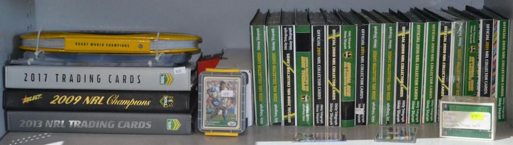 Shelf of assorted collectors cards to incl.