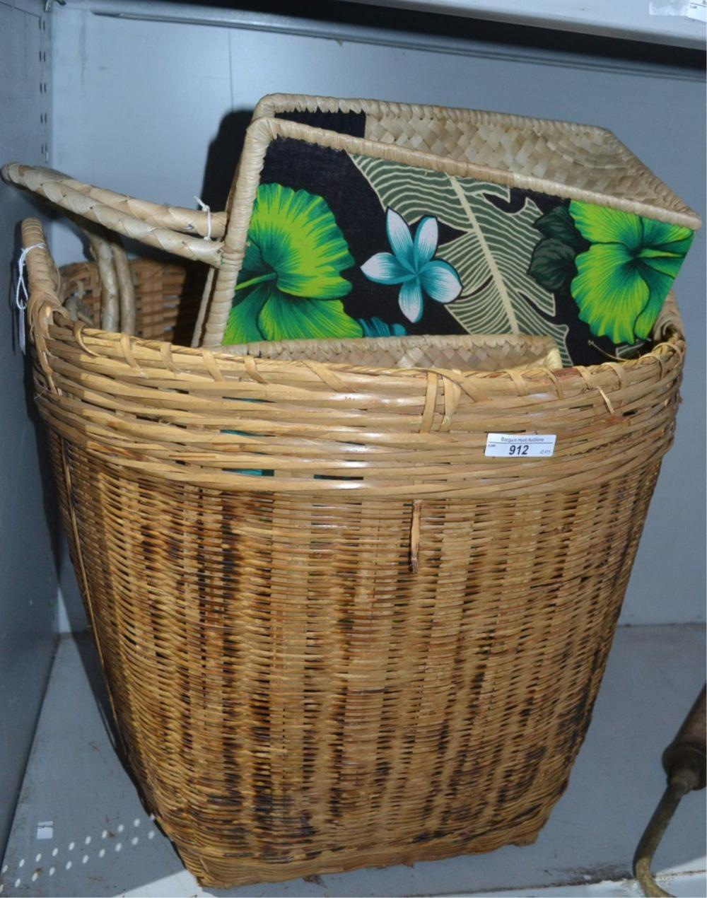 Collection of items to incl. cane basket