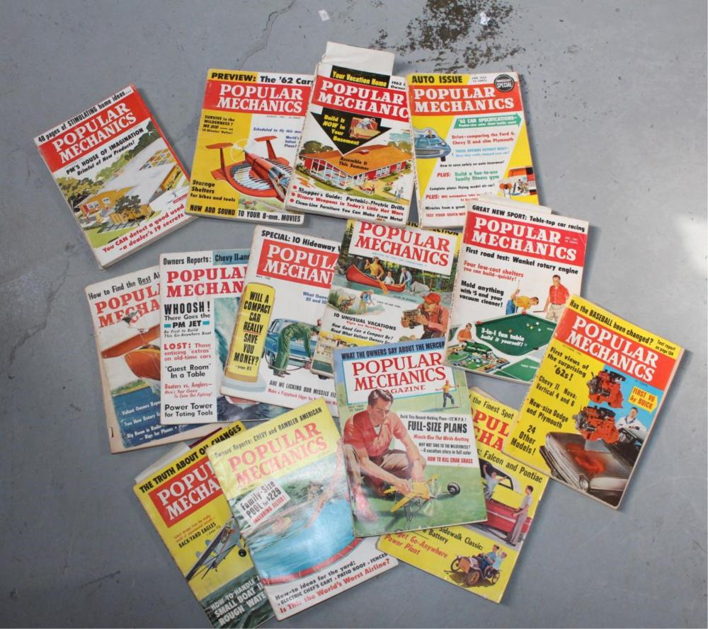 Collection of Popular Mechanics magazines