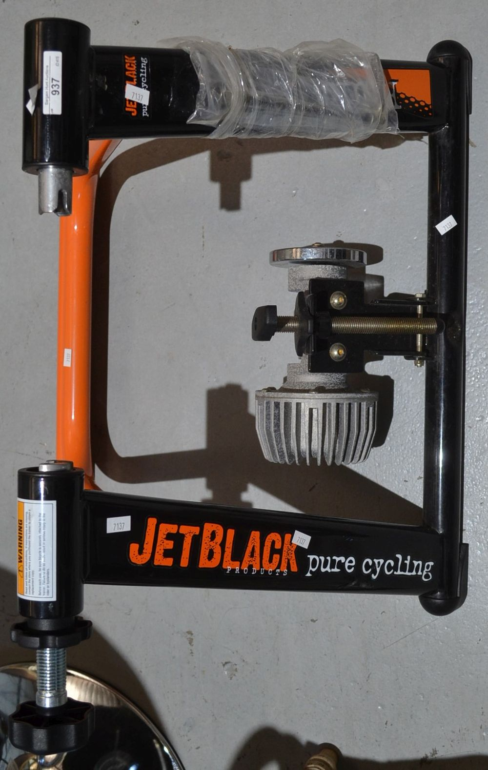 Jet black pure cycling trainer