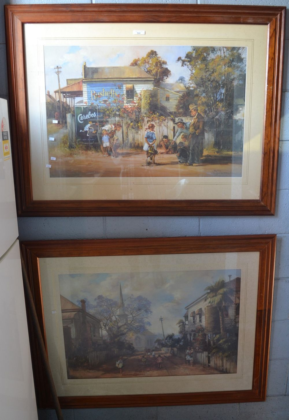 2 large framed prints by Darcy W Doyle