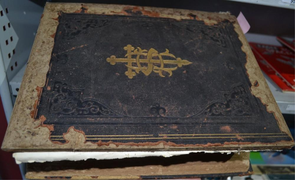 Large vintage holy bible