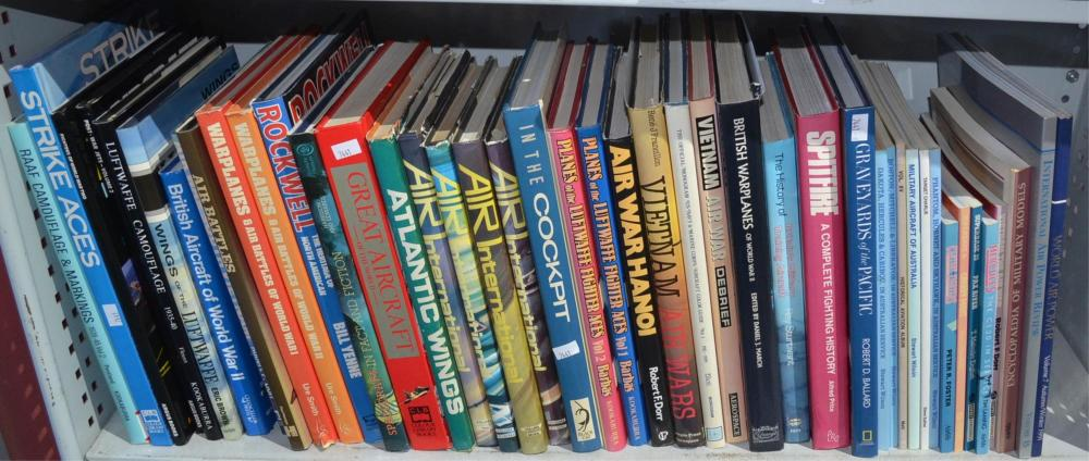 Shelf of assorted books