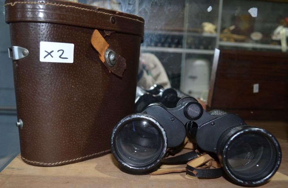 Collection of items to incl. pair of binoculars