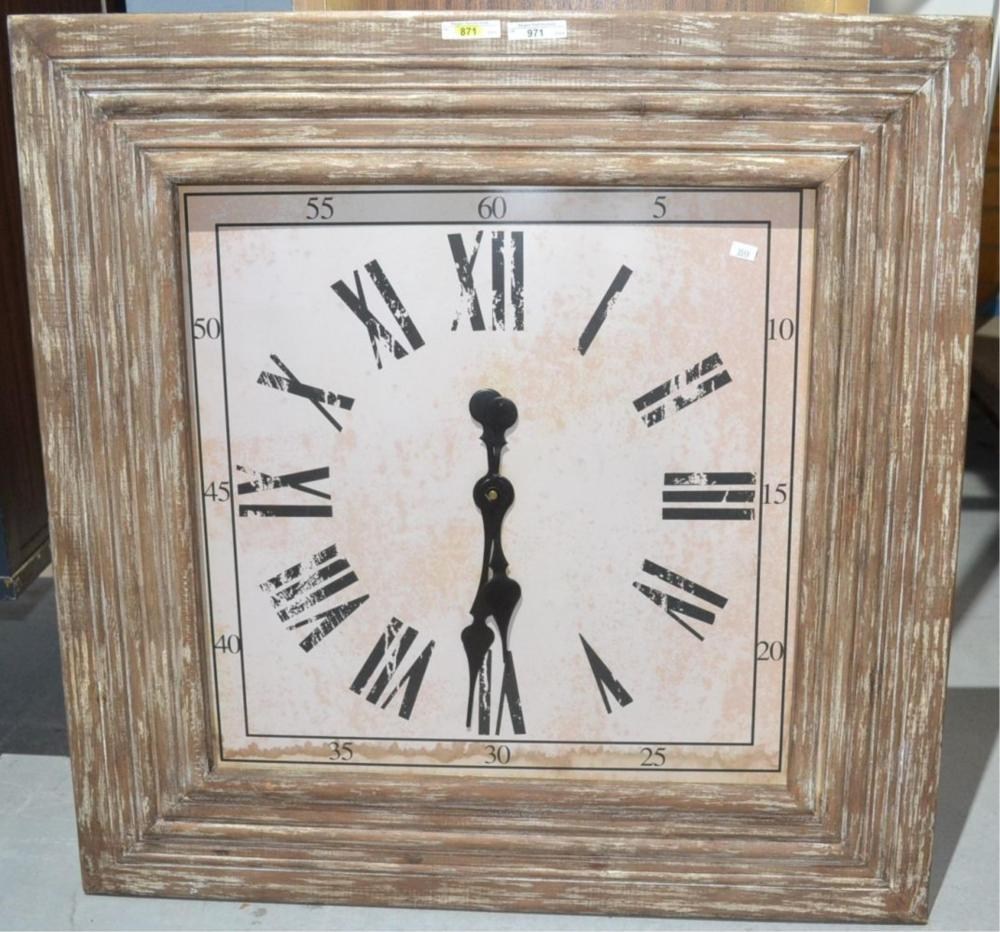 Large wall mounted clock,