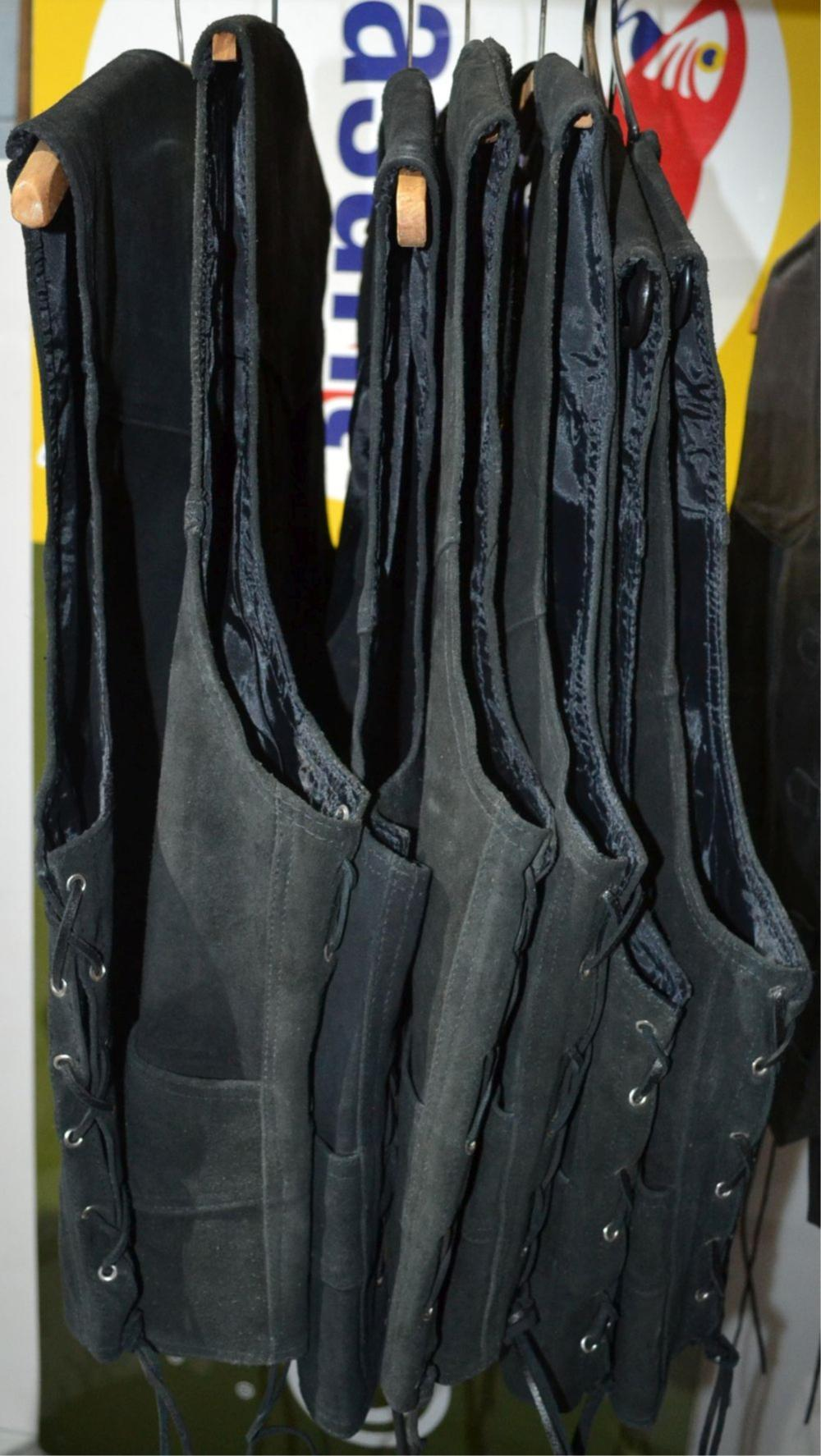 7 seude vests by Southern Cross in black
