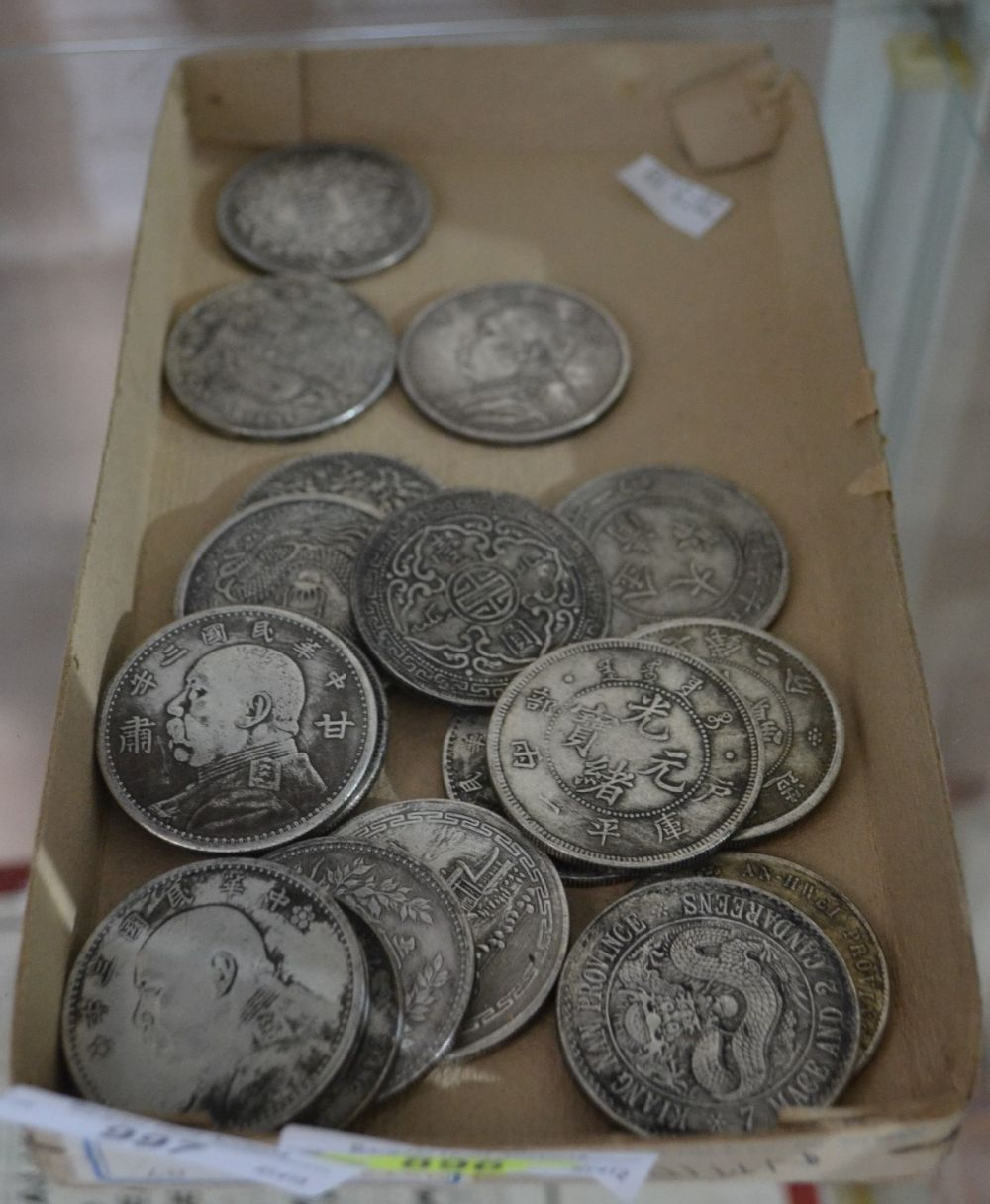 Collection of approx 20 Chinese white metal