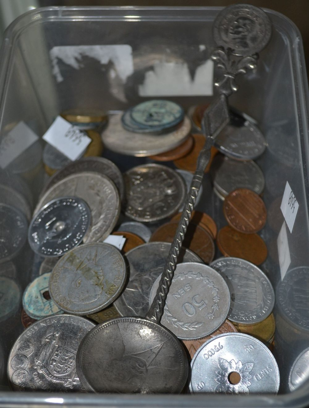 Assorted world coins