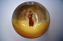 Royal Doulton 'Anne Page' fruit bowl, Shakespeare Series, 19.5cm D