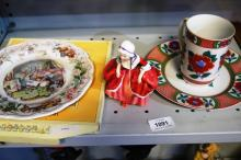 2 Royal Doulton 'Brambley Hedge' plates, Royal Doulton 'Goody Two Shoes' figurine and a Fitz & Floyd  mug & plate