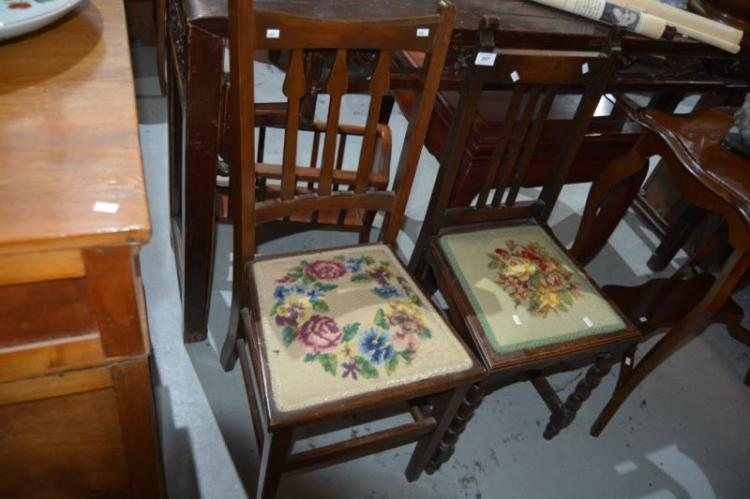 2 x vintage side chairs Home bargains furniture uk