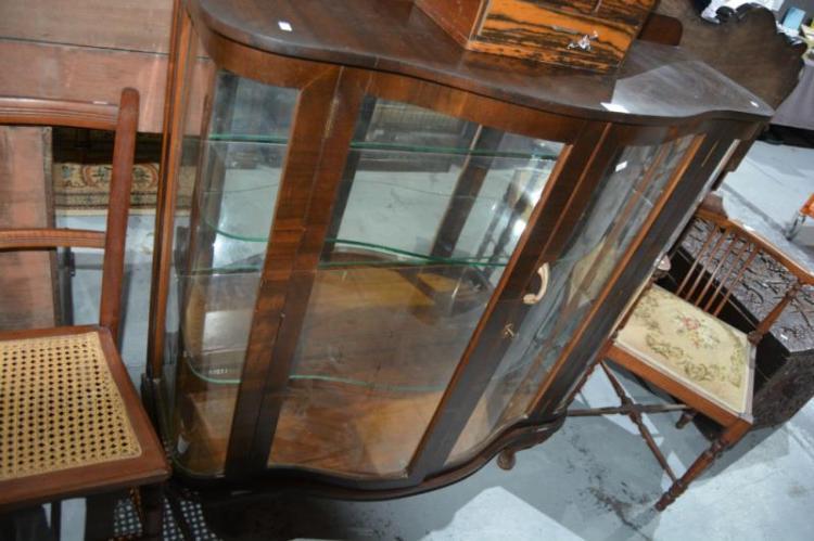 queensland walnut china display cabinet
