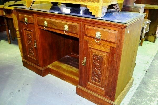Antique Queensland Maple Side Cabinet Desk