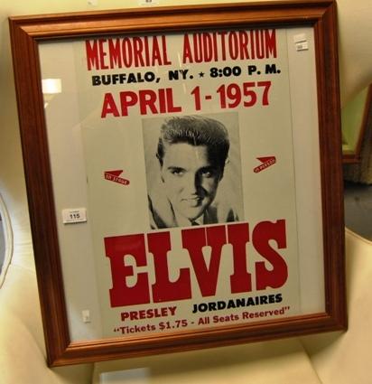 vintage style elvis presley concert poster