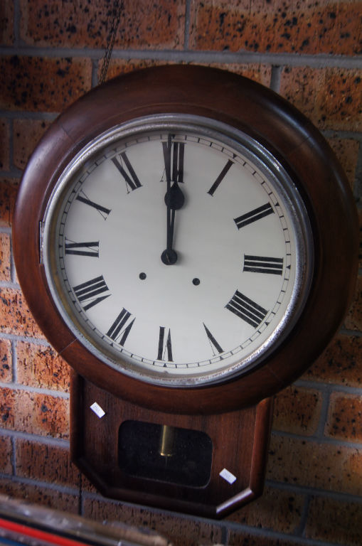Vintage Drop Dial Wall Clock Gong Striking Movement 58cm T