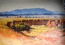 Dudley Parker, Outback Landscape, oil on board, signed, 60 x 85cm