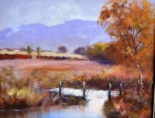 Artist unknown, rural landscape scene, oil on canvas board, unsigned, 34 x 44cm
