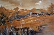 Cynthia Hundleby, Rural scene with farmhouse, watercolour, signed, 35.5 x 49.5cm