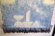 Michael Kenny, 'A Pool of Clear Stone', lim/ed screenprint 23/50, hand signed, titled and numbered, 91 x 121cm