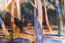 Belinda Wilson (NZ), 'Path Through the Trees', pastel on paper, signed, 75 x 108cm